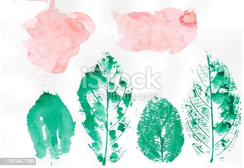 istock Abstract brush Colorful shape watercolor illustration painting background and texture backdrop. 1161947169