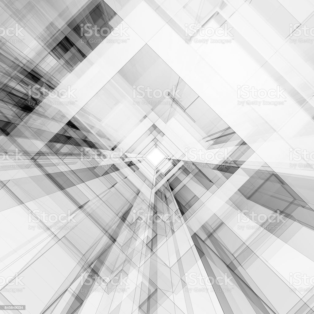 Abstract building 3d rendering stock photo