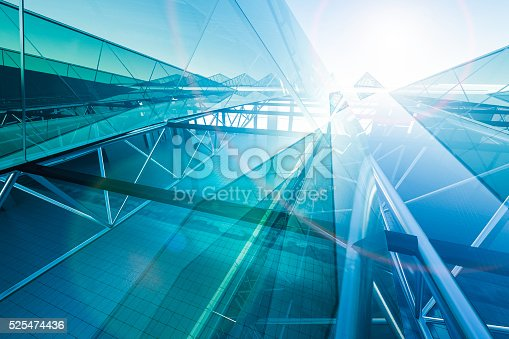 Abstract escalator in door 3D worker
