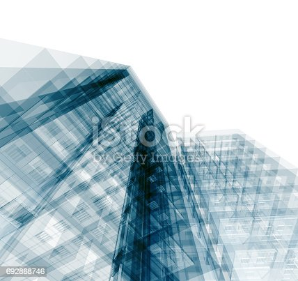 692868922 istock photo Abstract building 692868746