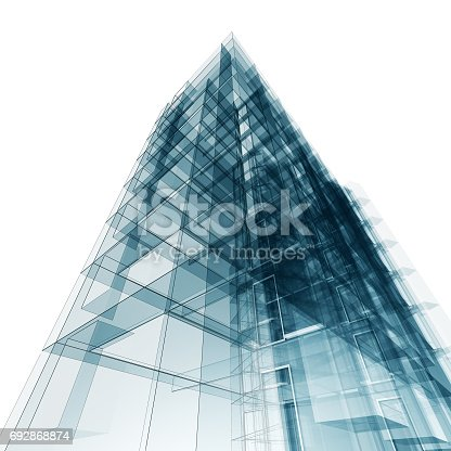 692868922 istock photo Abstract building 692868874