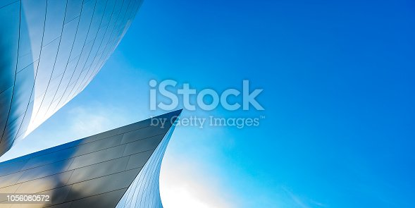 istock Abstract building with a modern design up 1056080572