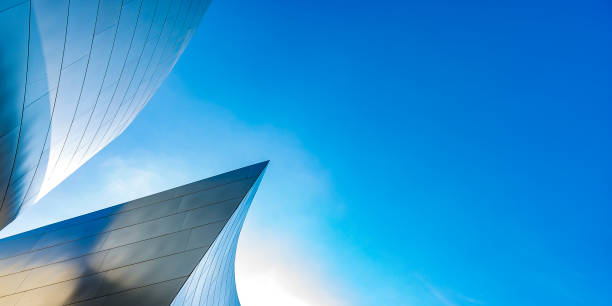 Abstract building with a modern design up stock photo