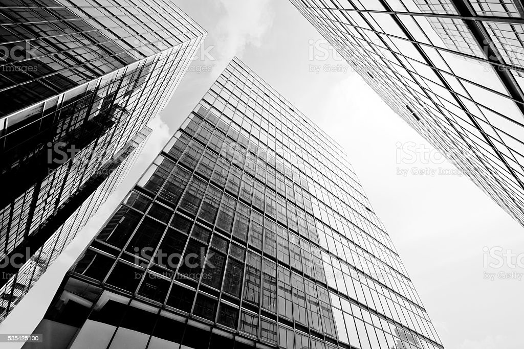 Abstract buildings background stock photo