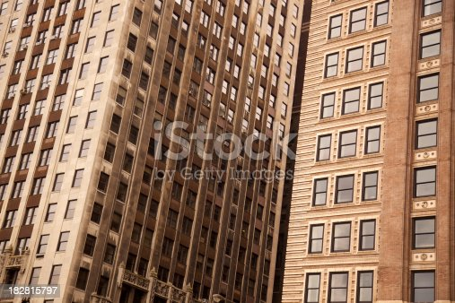 istock Abstract buildings in downtown Chicago 182815797
