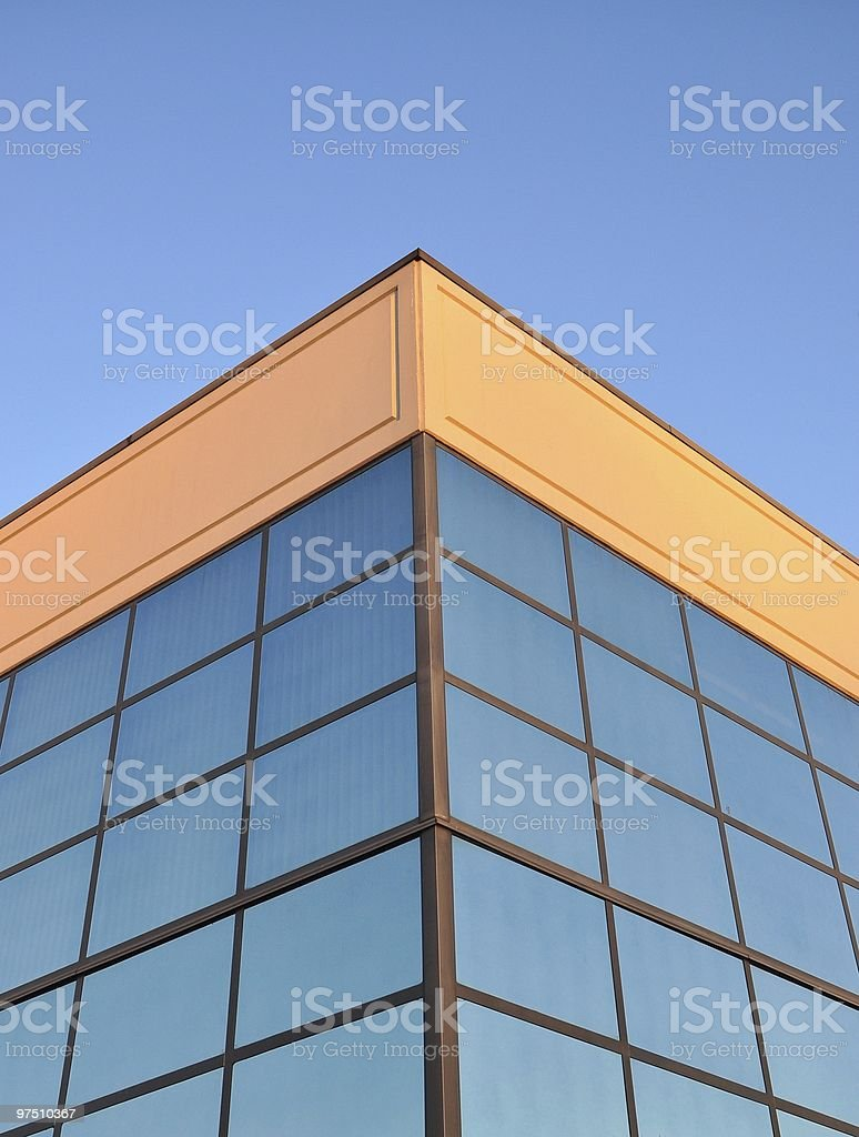 Abstract business building in Vancouver royalty-free stock photo