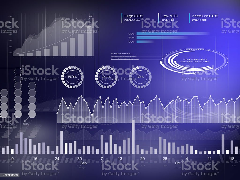 Abstract business evolution chart stock photo