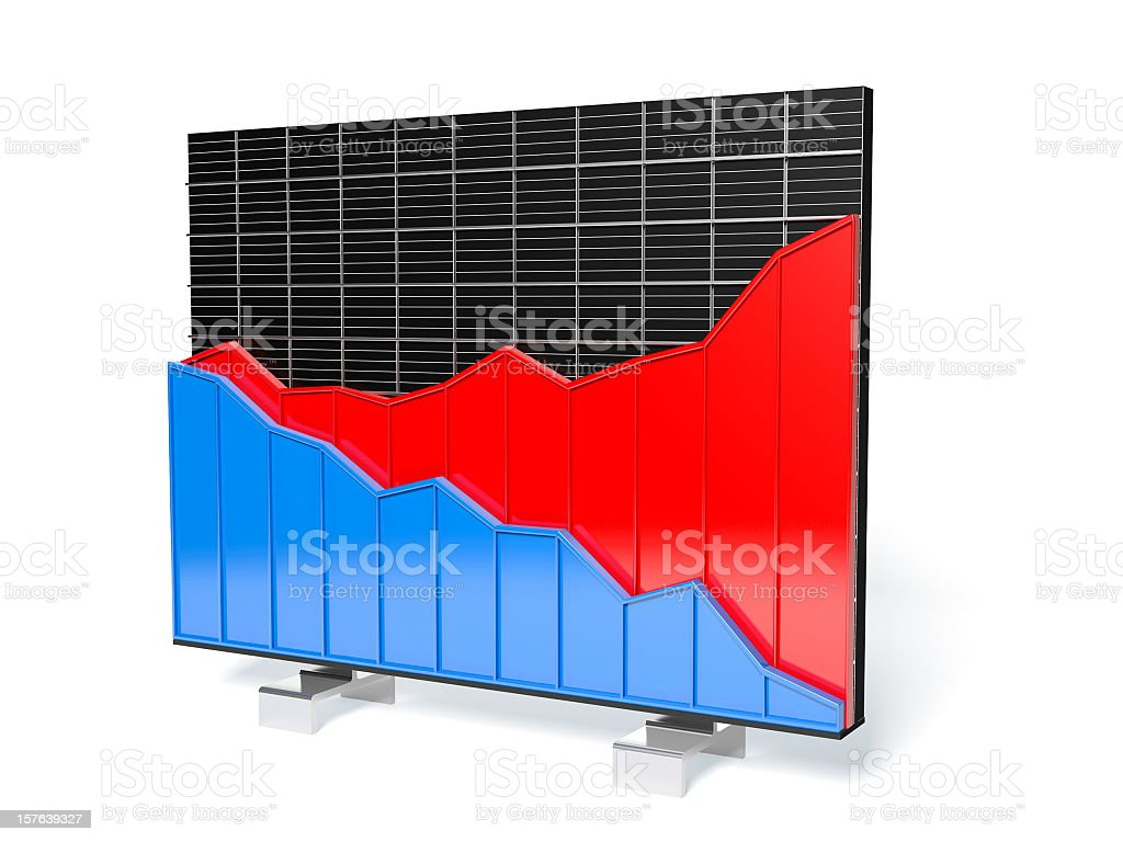 Abstract business graphs on measure grid stock photo