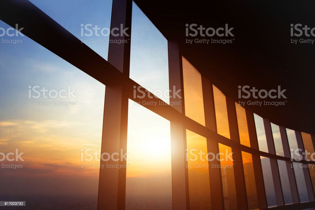 abstract business interior stock photo