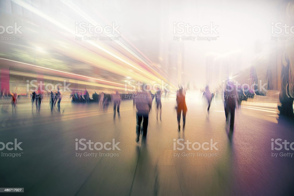 abstract business life at night of  modern city stock photo