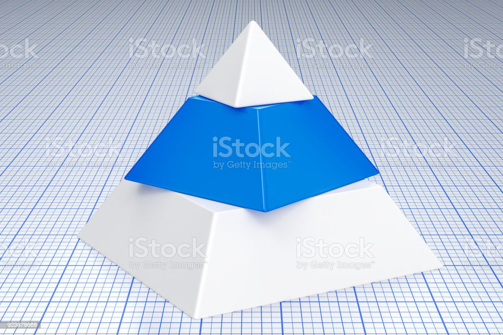 Abstract business pyramid concept. 3D rendering stock photo
