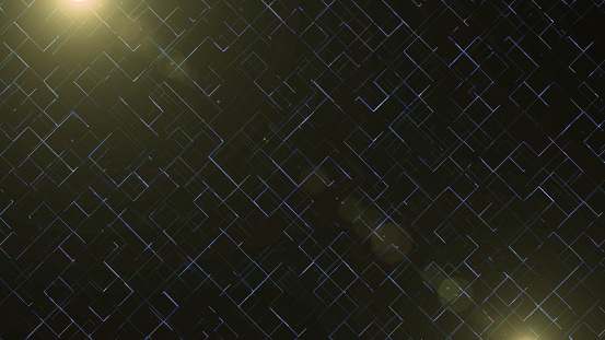 istock Abstract business science or technology background with empty space for text. Copy space. Close up. Bright golden blick is on blue grid background. 1151393963