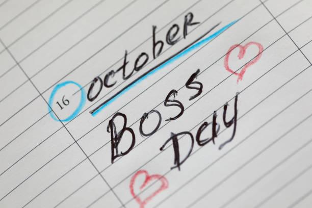plantilla de negocio abstracta con el día del jefe - boss's day fotografías e imágenes de stock