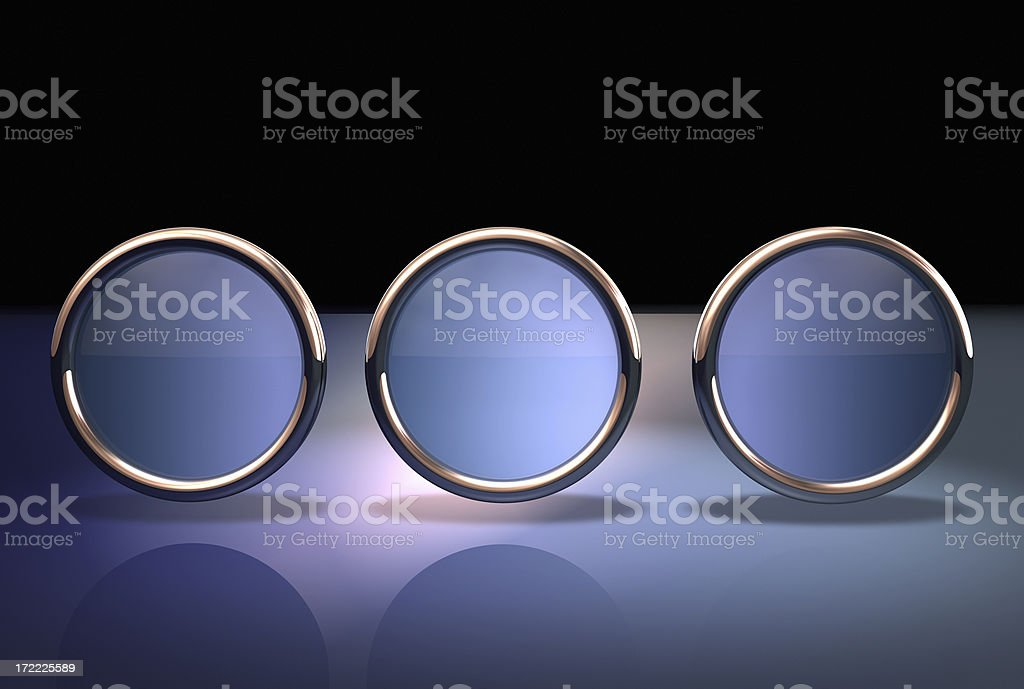 Abstract button three royalty-free stock photo
