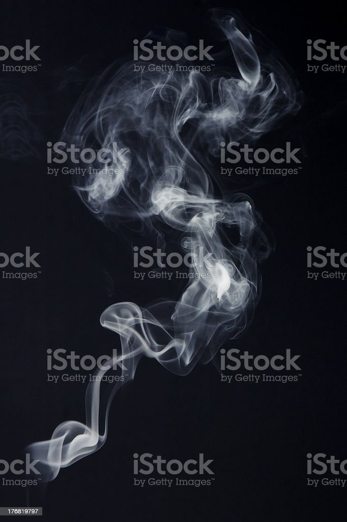 Abstract Candle Smoke stock photo