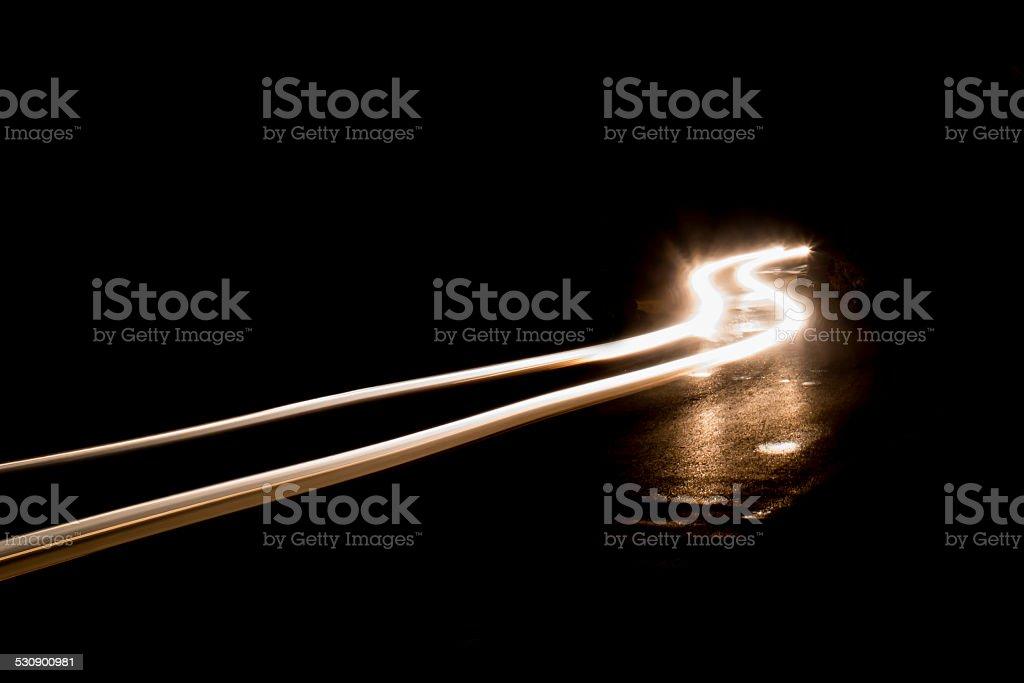 abstract car lights at night stock photo