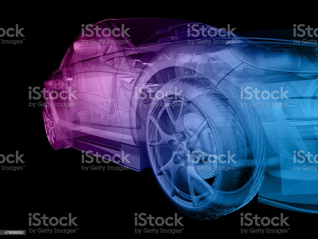 abstract car stock photo