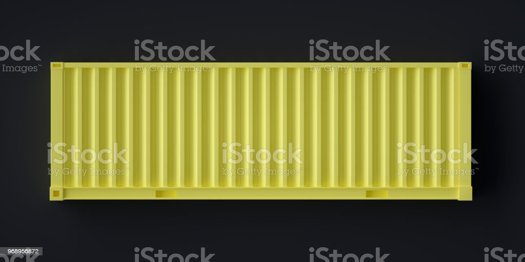 Abstract Cargo Container Symbol , side view stock photo