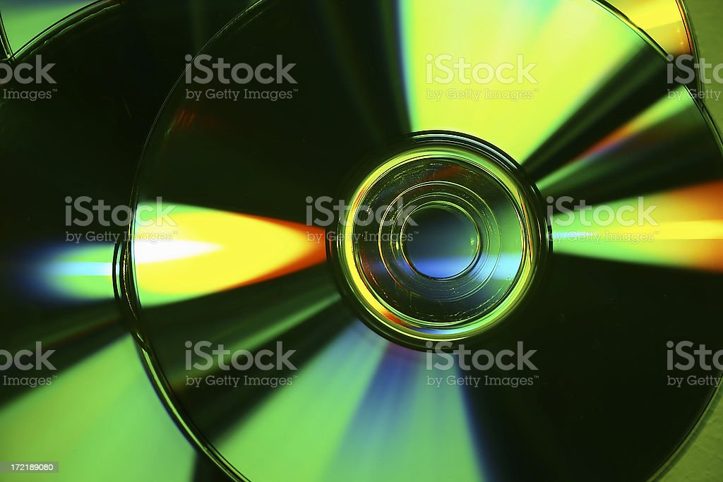 Abstract CD composition royalty-free stock photo