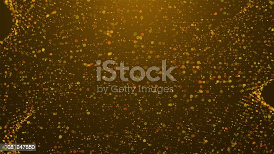 istock Abstract celebrate gold glitters in spiral shape with lighting, computer generated abstract background, 3D render 1081647850