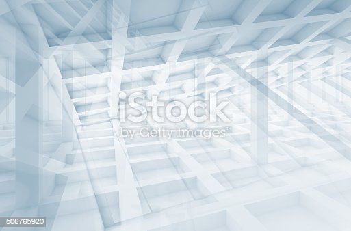 istock Abstract cell structures, digital 3d illustration 506765920