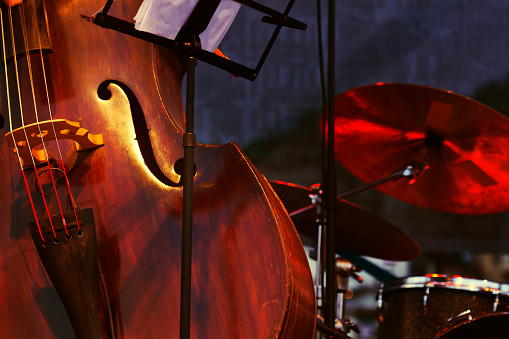 Abstract cello image showing the f hole