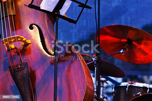 istock Abstract cello image showing the f hole 996573560