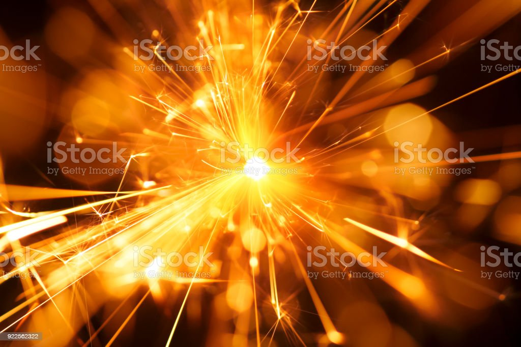 Abstract Centered Red Sparks - Sparkler Background Party New Year Celebration Technology royalty-free stock photo