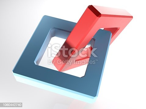 istock Abstract chain on white background - 3D rendering 1060442740