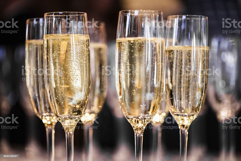 Abstract Champagne Glasses stock photo