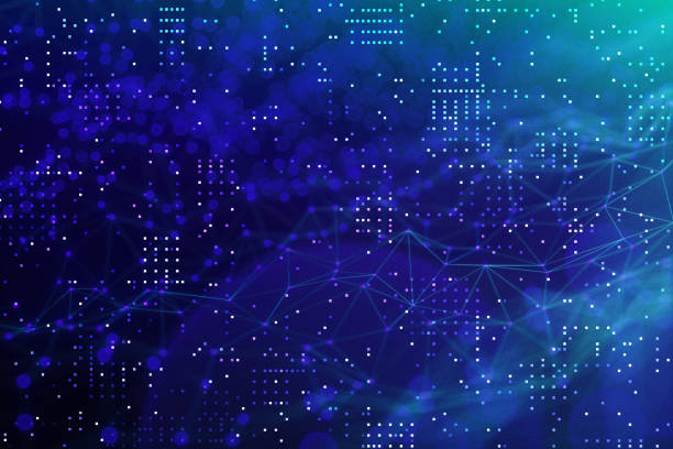 Abstract chaotic background Technology, Data, Computer Network, Big Data, Nerve Cell land feature stock pictures, royalty-free photos & images