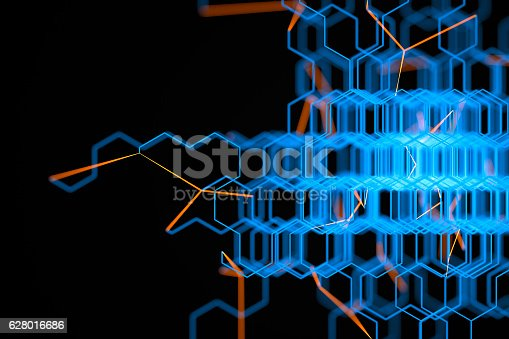 istock Abstract chaotic background 628016686