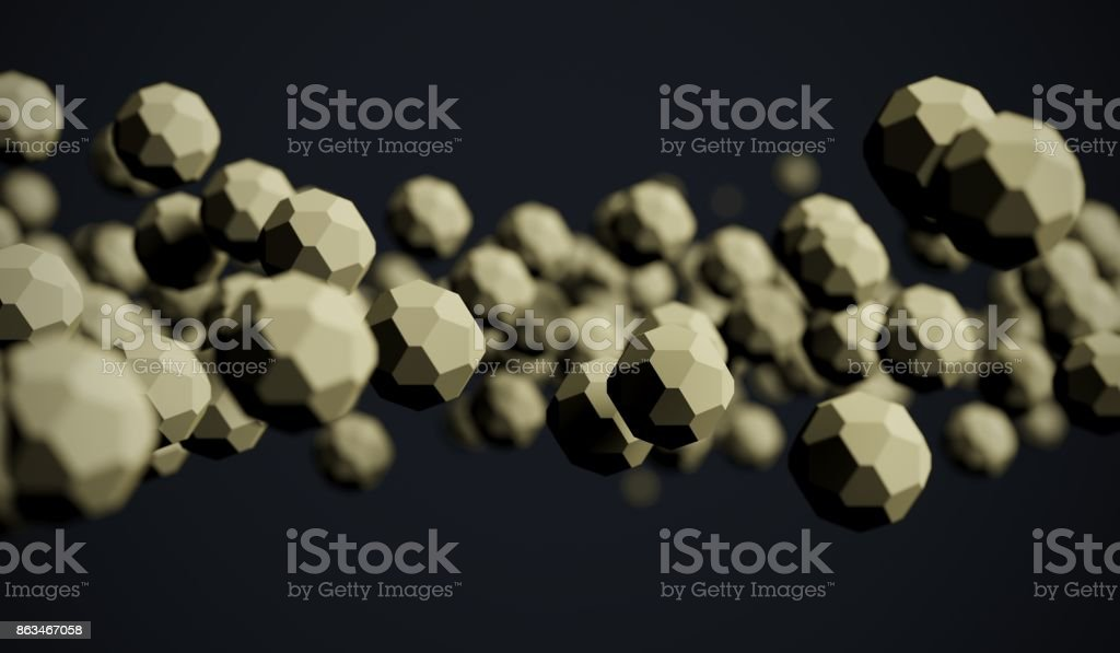 Abstract Chaotic Low Poly Particles stock photo