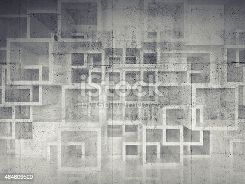 516688156istockphoto Abstract chaotic square cells structure on concrete wall 464609520