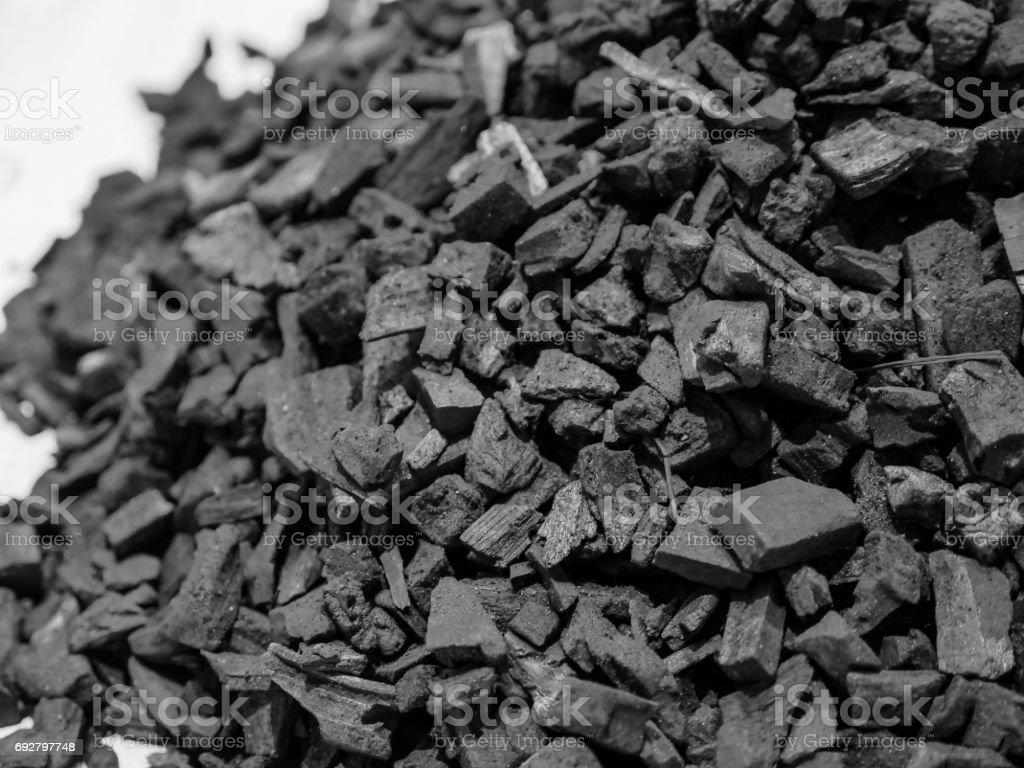 Abstract charcoal pile stock photo