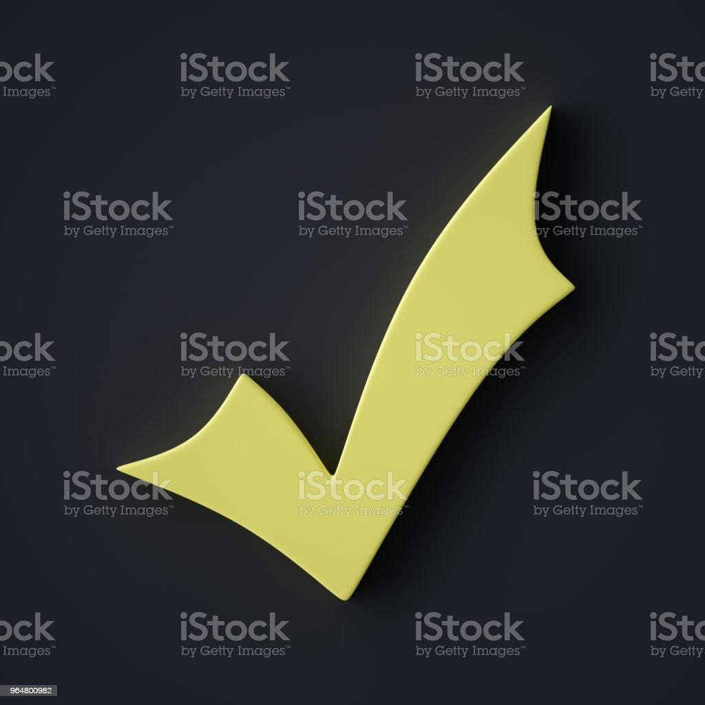Abstract Check Mark Symbol stock photo