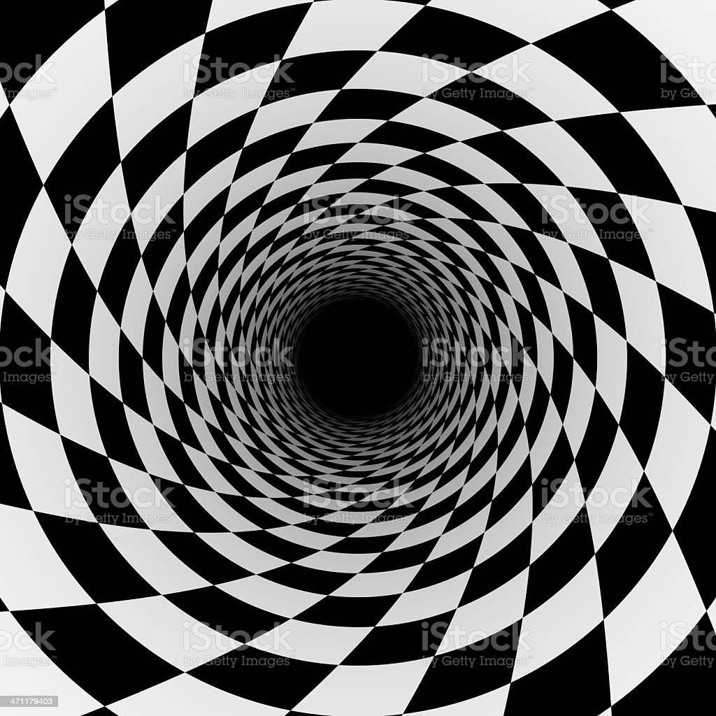 abstract checker tunnel royalty-free stock photo
