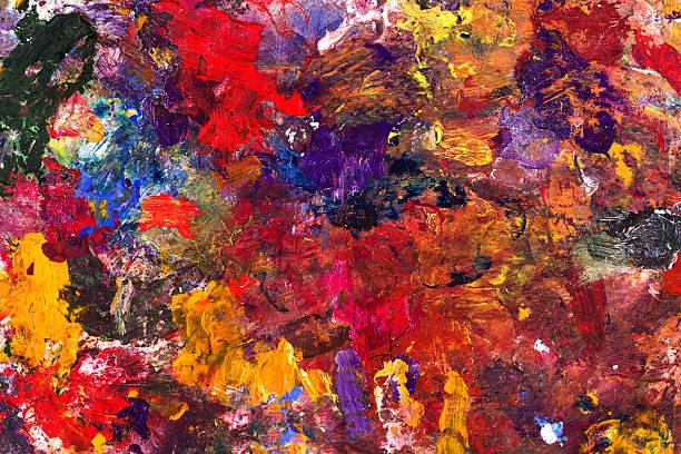 kunst abstrakte kind - fingerfarben stock-fotos und bilder