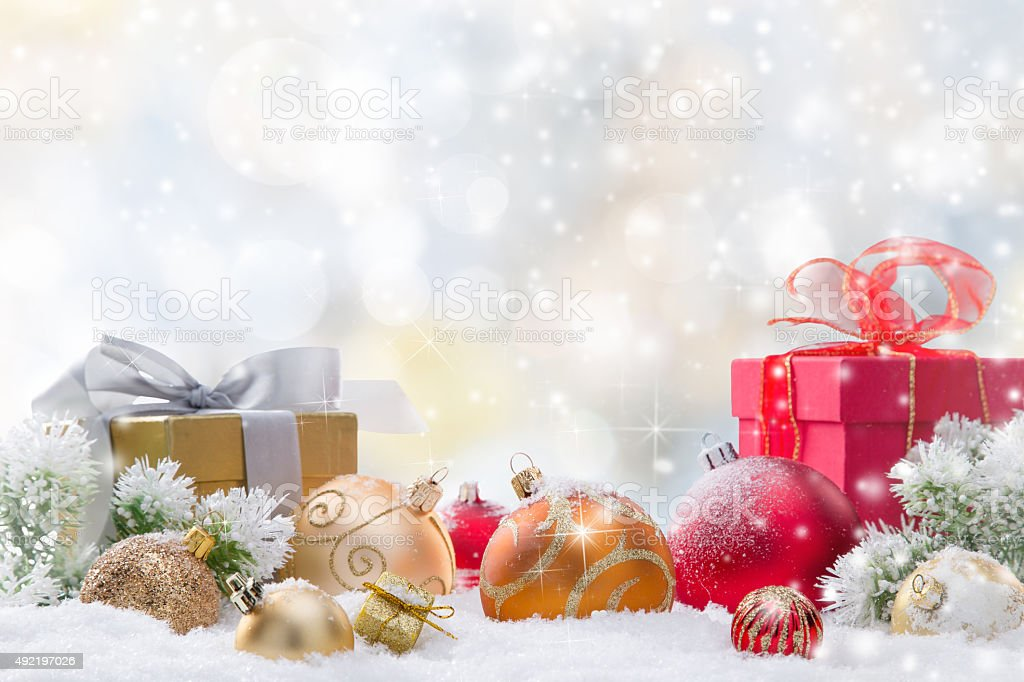 Abstract Christmas background stock photo