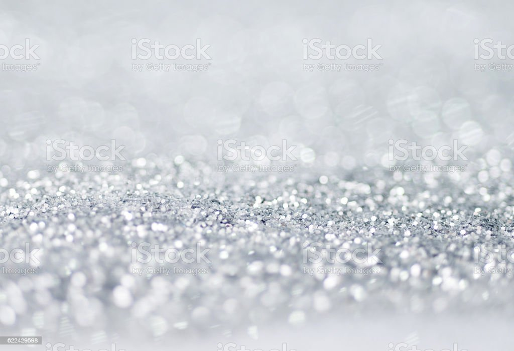 abstract christmas background with silver lights royalty free stock photo - Silver Christmas Lights