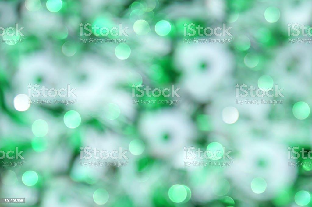 Abstract Christmas bokeh lights stock photo