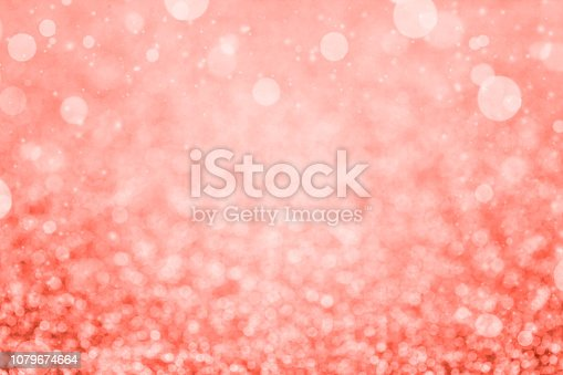 1083023980 istock photo Abstract christmas colored in color of year 2019 Living Coral background. Bright Macro color 16-1546 background. 1079674664