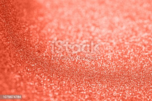 1083023980 istock photo Abstract christmas colored in color of year 2019 Living Coral background. Bright Macro color 16-1546 background. 1079674784