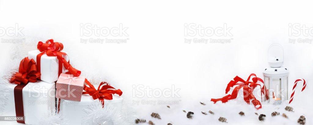 Abstract Christmas composition. stock photo