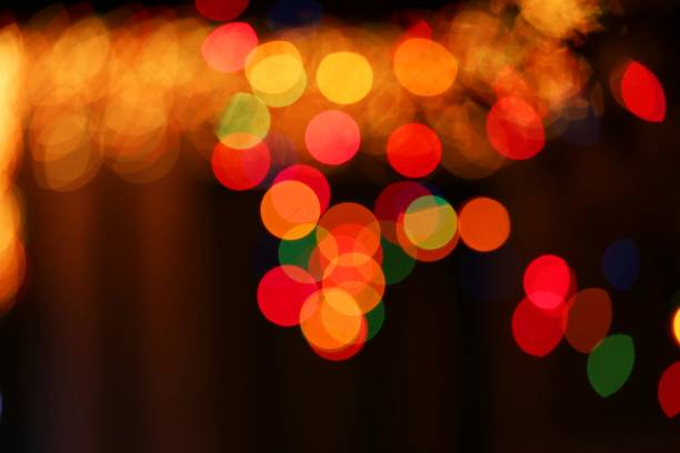 abstract Christmas light decoration stock photo