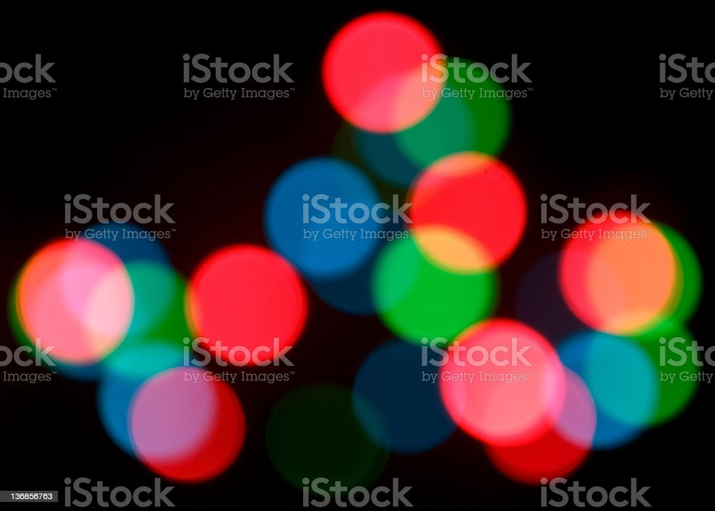 Abstract Christmas Lights royalty-free stock photo