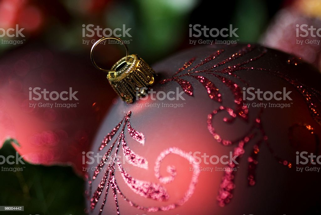 Abstract Christmas Ornament Closeup royalty-free stock photo