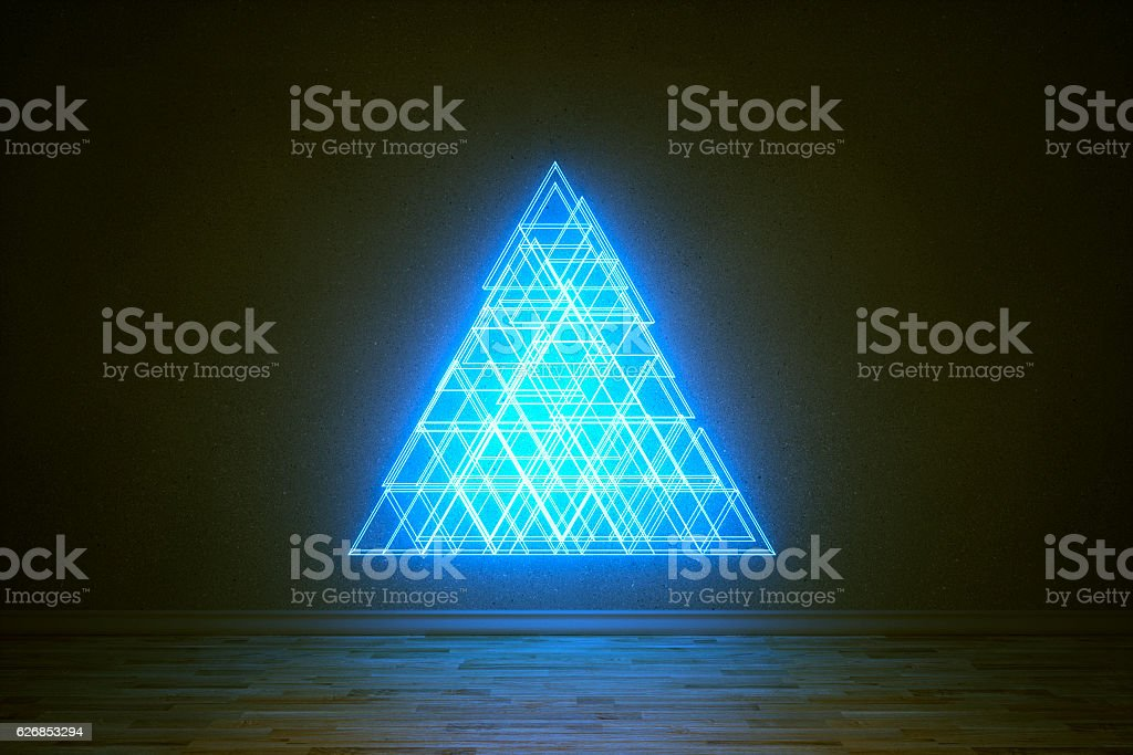 Abstract christmas tree at night stock photo