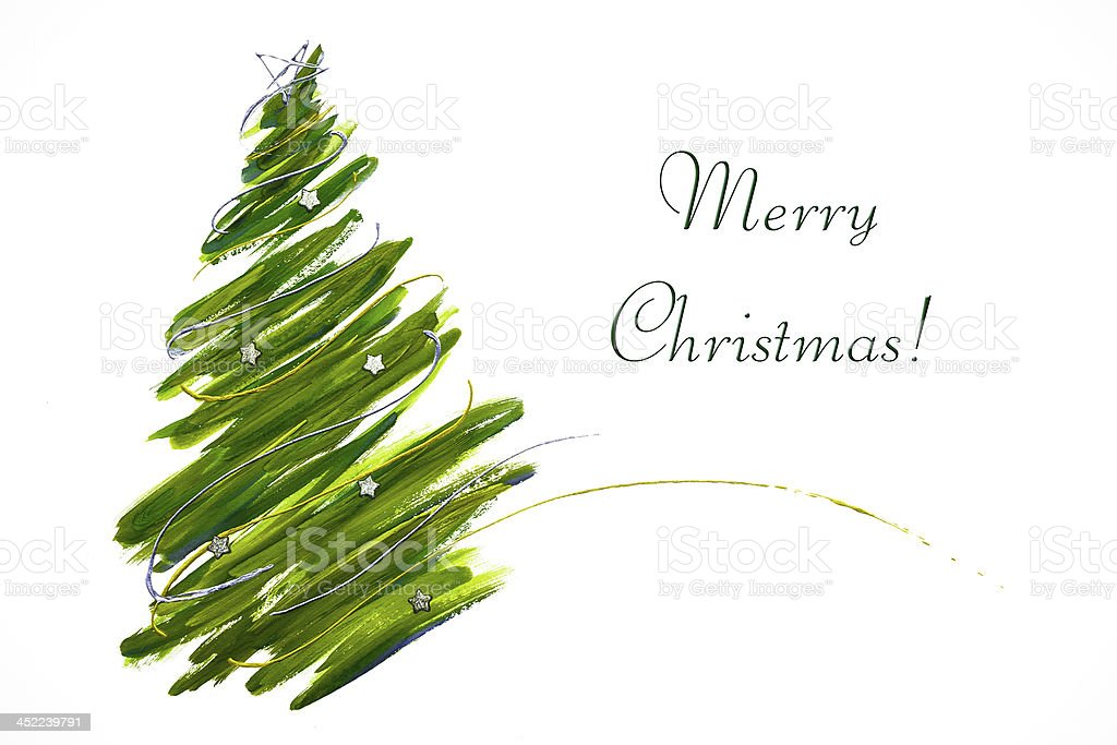 Abstract Christmas tree card stock photo