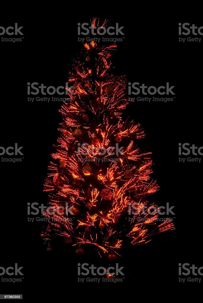 Abstract Christmas Tree royalty-free stock photo